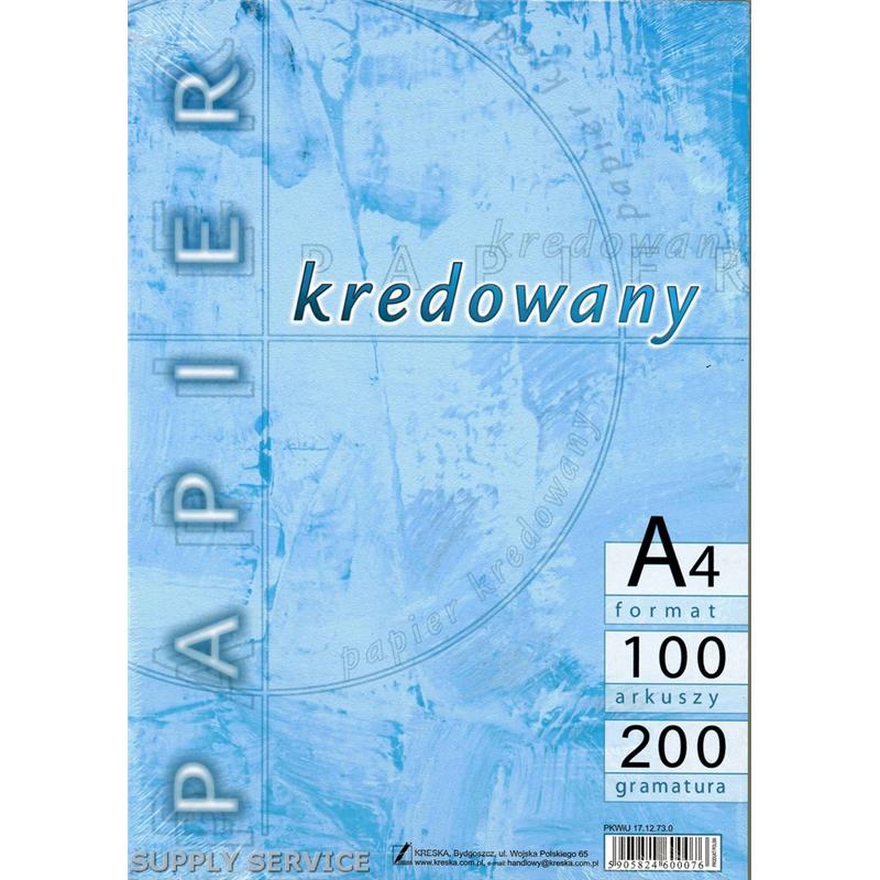 Papier Kredowy Kreska A4 200g