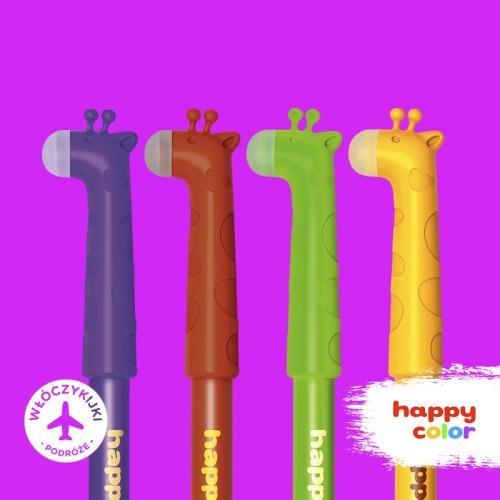Długopis HAPPY COLOR usuwalny ŻYRAFY 0.5mm,nieb,HA AKPB7371-3